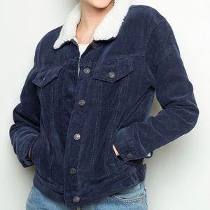 Brandy Melville corduroy Sherpa jacket